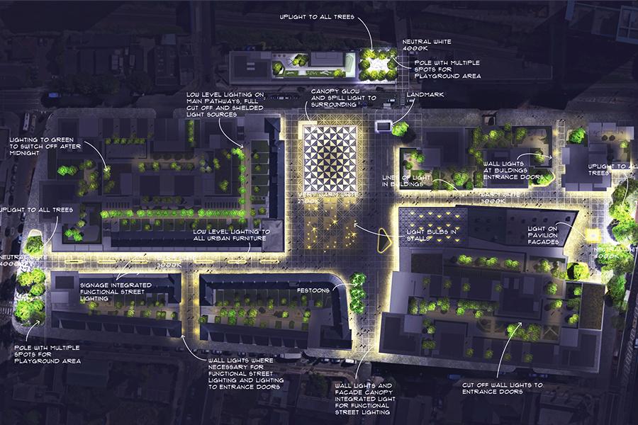 Chrisp street lighting strategy london light follows behaviour